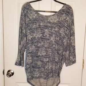 Blue & white shimmer blouse, Sz 18-20W Faded Glory